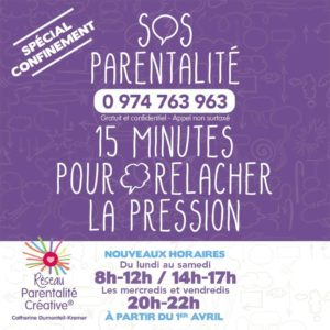 Confinement – Ressources pour les parents